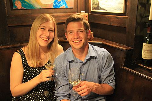 Weinprobe mit Elisabeth und Marius